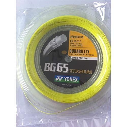 YONEX BG65Ti Cordaje de Bádminton Bobina 200m, Blanco