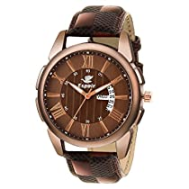 Espoir Analogue Brown Dial Day and Date Men's Boy's Watch -