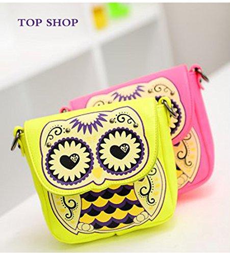 Pink Bag Owl Crossbody FTSUCQ Satchel Purse Clutch Cartoon Cute Handbag Shoulder 0rwg5qyvwS