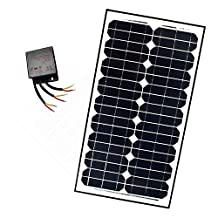 ALEKO® SP30W24VLM118 24V 30-Watt Monocrystalline Solar Panel LM118 Charging Controller Kit