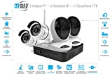 Vimtag Surveillance Kit - 2 P1 Indoor Cam, 2 B1 Outdoor Cam, 1TB Cloud Storage Box | Complete Wireless Security Solution