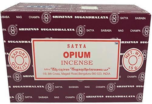 Opium Incense - Satya Sai Baba Nag Champa - Opium Incense Sticks Box - Pack of 12 (15 Gram)