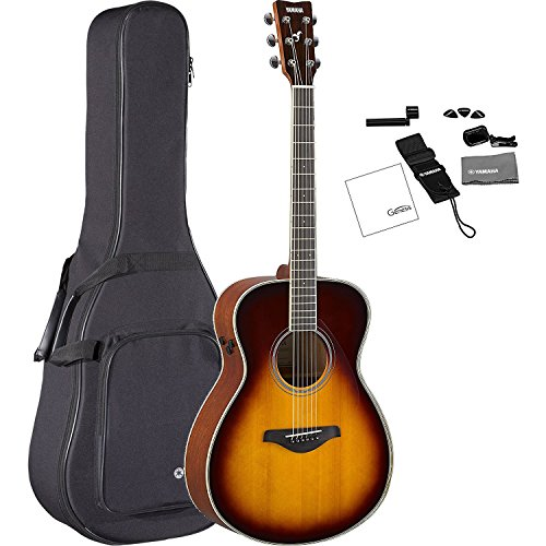Yamaha FS-TA BS TransAcoustic Concert Acoustic-Electric Guitar Brown Sunburst with FREE Premium Gig Bag, Tuner, Strap, Guitar Picks, String Winder, and Polishing Cloth