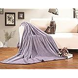 Elegant Comfort Ultra Super Soft Fleece Plush Luxury Blanket All Sizes King/CAL King Lilac