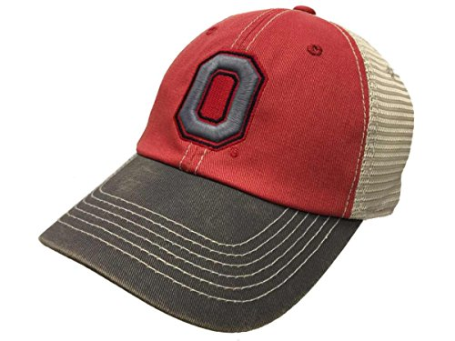 Ohio State Buckeyes TOW O Logo Red Gray Offroad Mesh Slouch Hat (Off Road Logos)