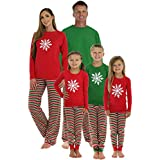 SleepytimePjs Family Matching Sleepwear Knit Striped Pajamas PJ Sets (STM1-STRIPE-W-Solid-Top-MED)