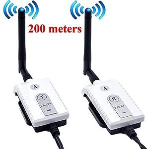 Auto Wayfeng WF® Auto 2.4 GHz Wireless AV Cavo trasmettitore e ricevitore per auto Bus Monitor video Monitoraggio… 1 spesavip