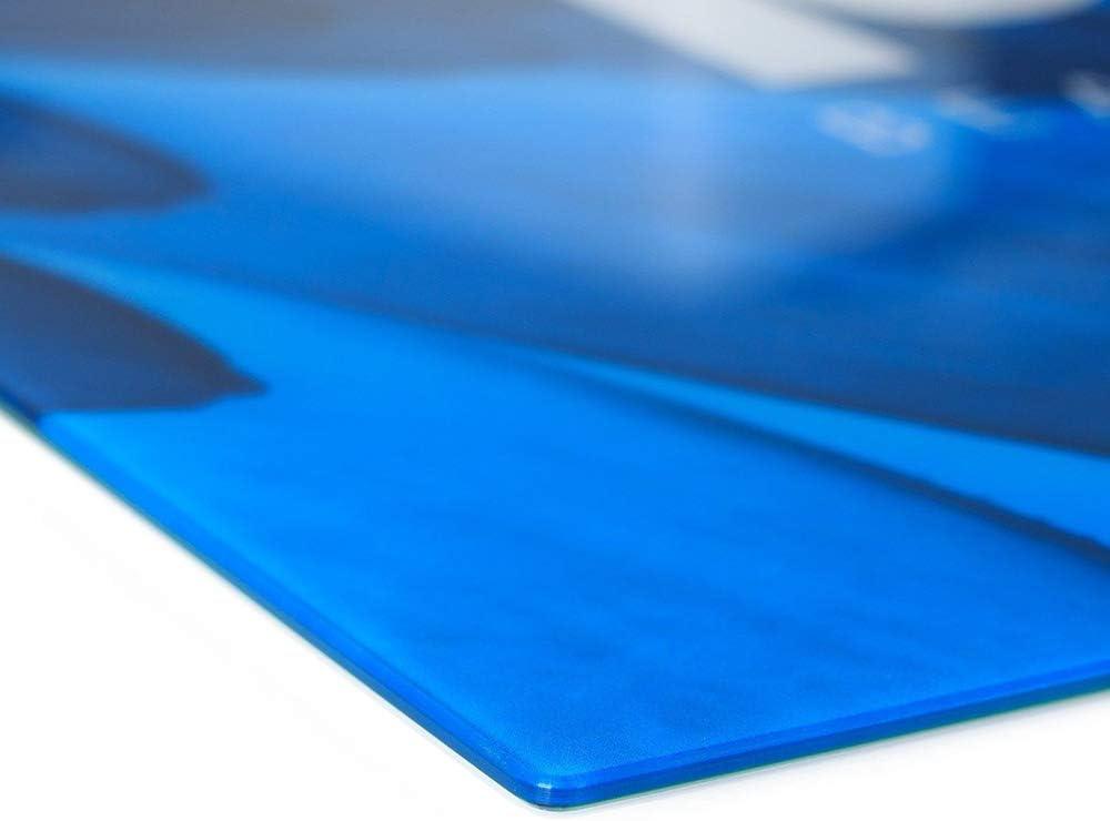 Einteilig Landschaften Blau Paradiesstrand Tulup Glas Herdabdeckplatte Ceranfeldabdeckung Spritzschutz Glasabdeckplatte Kochplattenabdeckung und Schneidebrett 60x52 cm
