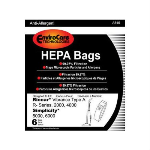 EnviroCare Replacement Vacuum Bag For RAH-6 / Type A / A845 (6 Pack)