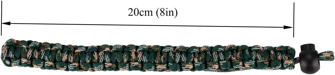 Allzedream Camera Wrist Strap Paracord Bracelet Adjustable for DSLR Binocular Cell Phone Green Purple