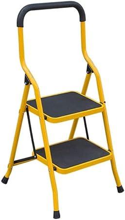 XB-ZDT Escalera Plegable para Uso Doméstico, Pedal Ensanchado Reposabrazos Lateral De Espiga De Pata De Cabra 2 Pasos 3 Pasos Escalera De Extensión Ascendente, Amarillo (Color : 2 Steps): Amazon.es: Hogar