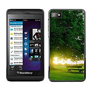 TopCaseStore / la caja del caucho duro de la cubierta de protección de la piel - Nature Beautiful Forrest Green 167 - Blackberry Z10