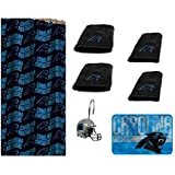 The Northwest Company NFL Carolina Panthers 18 Piece Bath Ensemble Set Includes 1 Shower Curtain
