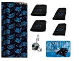 The Northwest Company NFL Carolina Panthers 18 Piece Bath Ensemble: Set Includes 1 Shower Curtain, 12 Shower Hooks, 4 Bath Towels, and 1 Bath mat