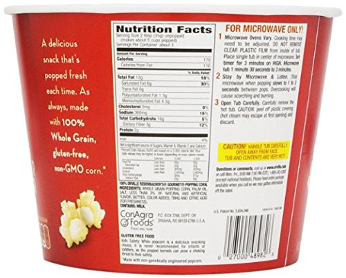 Orville Redenbacher's Movie Theater Butter Popcorn Tub, 3.9 oz. (Pack of 2)