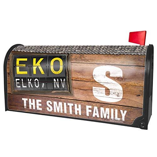 NEONBLOND Custom Mailbox Cover EKO Airport Code for Elko, NV ()
