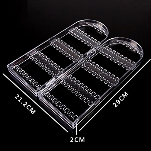 Jewelry Display Acrylic Clear Holder 120 Hole Cosmetic Organizer Storage Makeup Case Cabinet Box Jewelry Display Holder by UJKCKW JCSD (Image #4)