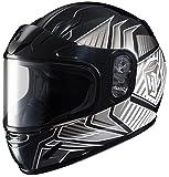 HJC CL-YSN Redline Full Face Youth Snow Helmet Framed Dual Lens Shield (MC-5 Silver, Small)