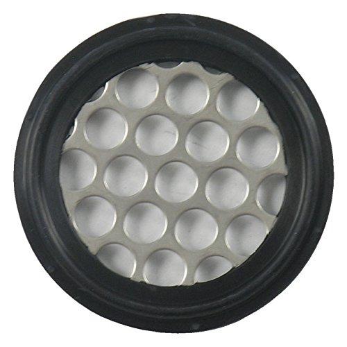 Buna Sanitary Tri-Clamp Perforated Plate Gasket, Black - ...