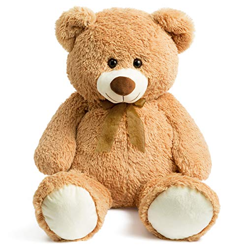 Jumbo Plush Teddy Bear - HollyHOME Teddy Bear Plush Giant Teddy Bears Stuffed Animals Teddy Bear Love 36 inch