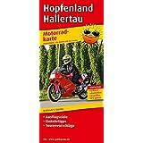 Hopfenland Hallertau: Motorradkarte mit Ausflugszielen, Einkehr- & Freizeittipps und Tourenvorschlägen, wetterfest, reissfest, abwischbar, GPS-genau. 1:100000