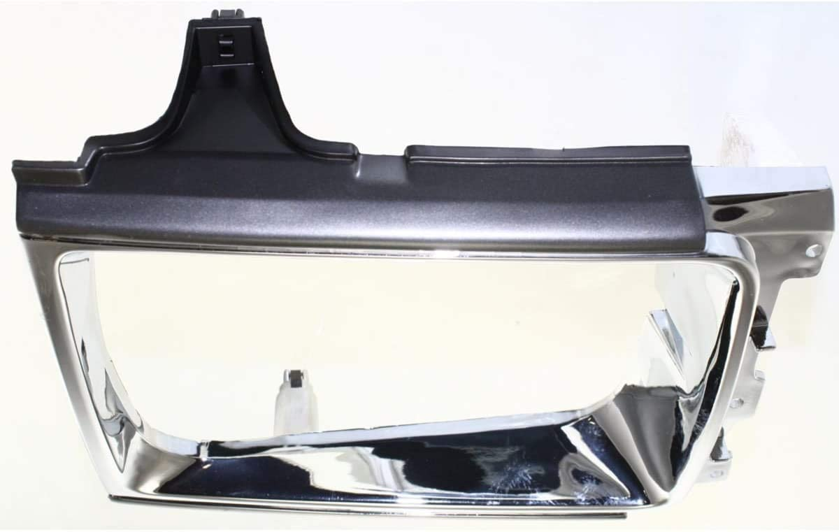I-Match Auto Parts Right Passenger Side Headlamp Door Bezel Replacement For 86-89 Toyota 4RUNNER 4WD TO2513109 630-50077A Chrome