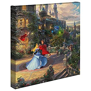 Thomas Kinkade Studios Sleeping Beauty Dancing in The Enchanted Light 14 x 14 Gallery Wrapped Canvas