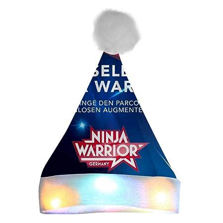 X11xzhen Ninja Warrior - Gorro de Papá Noel de Felpa Suave ...