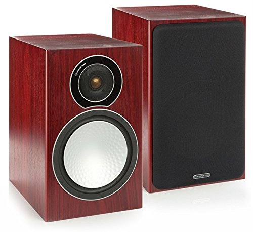 Monitor Audio - Silver Series 1 - 2-way Compact Loudspeakers - Pair - Rosenut by Monitor Audio