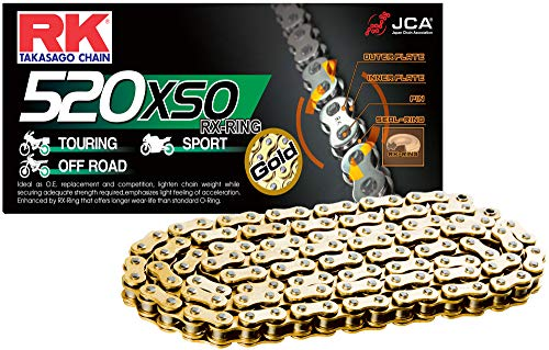 RK Racing Chain 520XSO-100 100-Links X-Ring Chain with Connecting Link