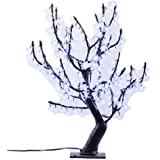Hi-Line Gift Ltd. 39009-WT 31.5-Inch high Indoor/ outdoor LED Lighted Trees with 196 LEDS, White