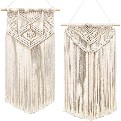 Mkono 2 Pcs Macrame Wall Hanging Art Woven Wall
