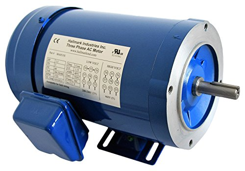 Hallmark Industries MA0520E AC Motor, 2 hp, 1725 RPM, 3PH/60 hz, 208-230/460V AC, 56C/TEFC, with Foot, SF 1.15, Insul F, Inverter Duty, Steel (Pack of 1)
