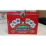 Set of 7 Webber Articulation Card Decks (Combo Set 1) - Super Duper Educational Learning Toy for Kids