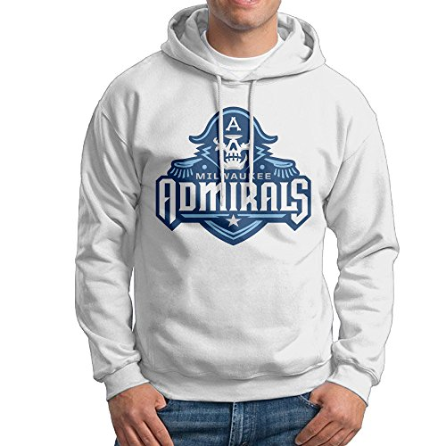 Milwaukee A Admirals Hoodie For Men Size L White