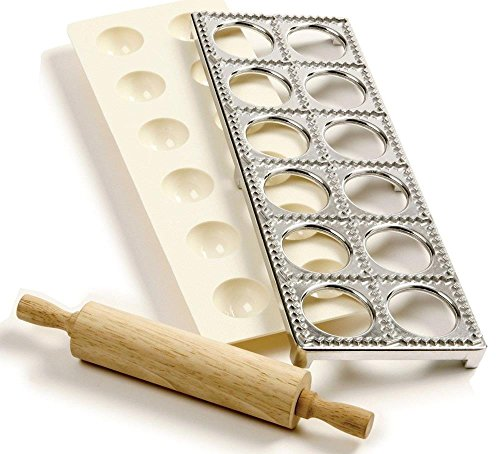 Kitchen Tools Ravioli Maker With Press Pasta Dough Mold Tool and Rolling Pin