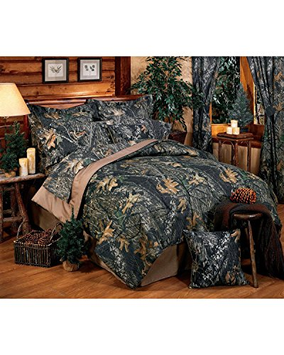 Mossy Oak Unisex New Break Up Queen Sheet Set Camouflage One ()