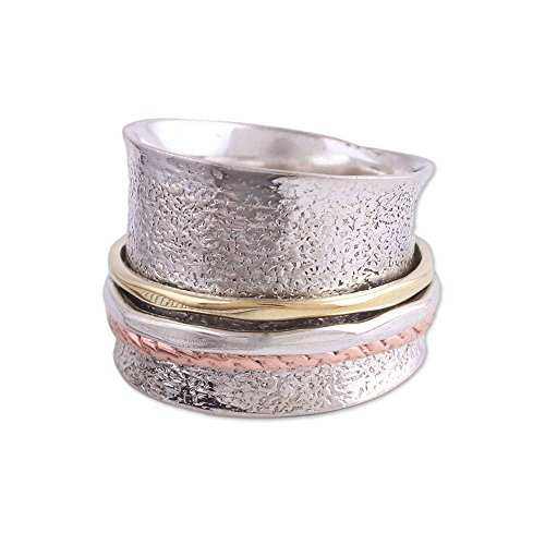 Buy now NOVICA .925 Sterling Silver Brass Copper Meditation Spinner
