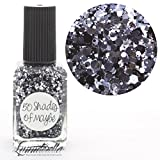 Lynnderella Multi Glitter Black and White Nail Polish—50 Shades of Maybe