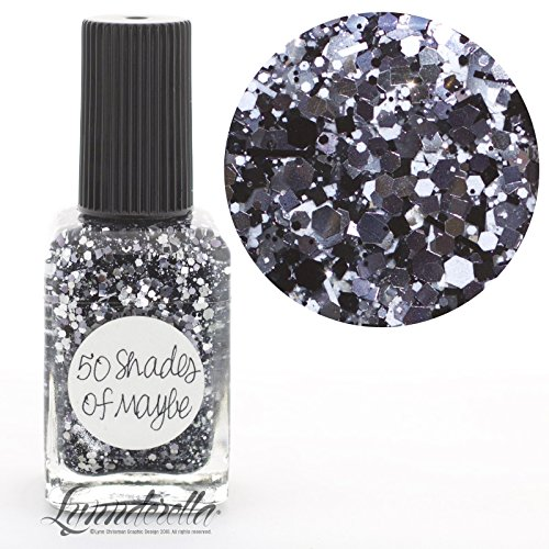 Lynnderella Multi Glitter Black and White Nail Polish—50 Shades of Maybe by Lynnderella