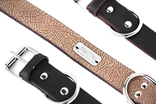 Pictures of Mighty Paw Leather Dog Collar Super Soft Light Brown 8
