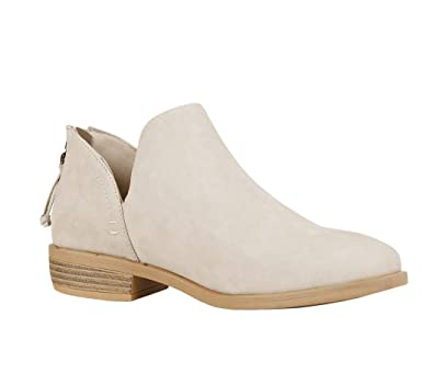 04e4a936f6 Womens Ankle Boots V Cut Pointed Toe Stacked Chunky Block Low Heel Zip  Booties
