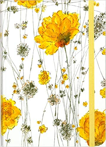 Yellow Flowers Journal Notebook Diary Small Format Journals