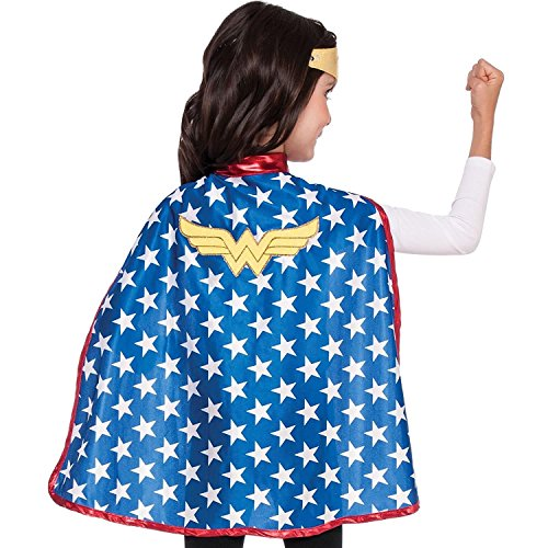 Imagine by Rubies Kids Wonder Woman Cape Set Costume, One (Wonder Red Toddler Costumes)