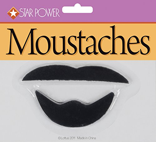[Star Power Adult Arabian 2pc Goatee Moustache, Black, One Size] (Mustache Costumes Ideas)