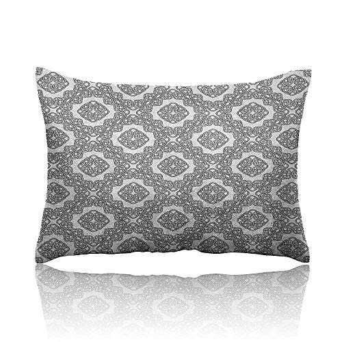 Anyangeight Celtic Standard Pillowcase Geometric Diagonal Symmetrical Binding Celtic Cross Knots Motif Retro Illustration Pillowcase Protector 18