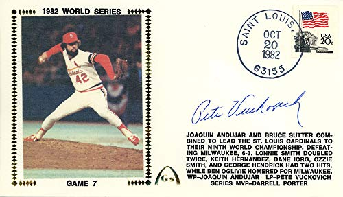 Pete Vuckovich Autographed First Day Cover Milwaukee Brewers 1982 World Series Beckett BAS #E46575