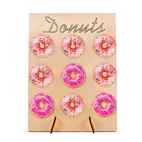 Walmeck- Wooden Doughnut Rack for Wedding Supplies Birthday Party Baby Shower Household Decoration