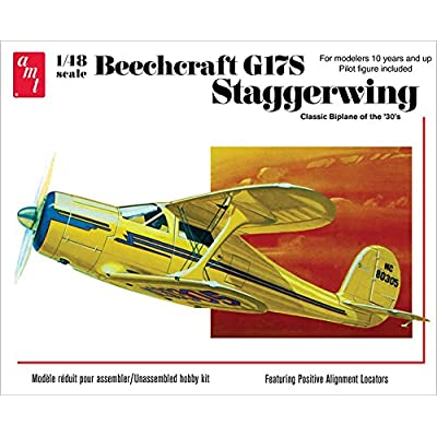 AMT 1:48 Scale Beechcraft G17S Staggerwing Model Kit: Toys & Games