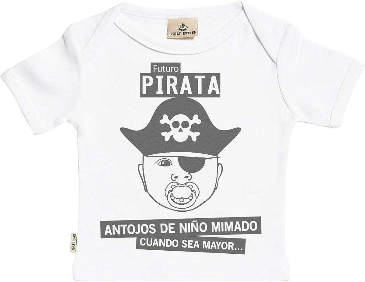 SR - Estuche de presentación - Futuro Pirata Camisetas para bebé niño - Camisetas para bebé niña - Conjunto Regalo del bebé - 6-12 Meses Blanco: Amazon.es: Ropa y accesorios